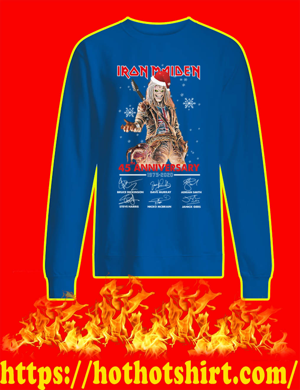 Christmas Iron Maiden 45th Anniversary 1975 2020 Signature sweatshirt