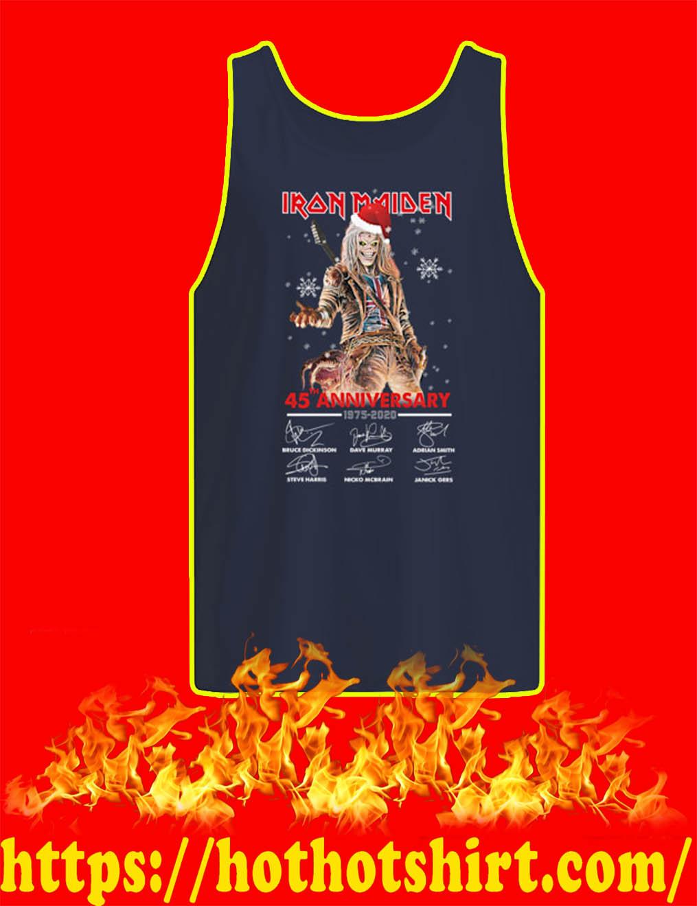 Christmas Iron Maiden 45th Anniversary 1975 2020 Signature tank top