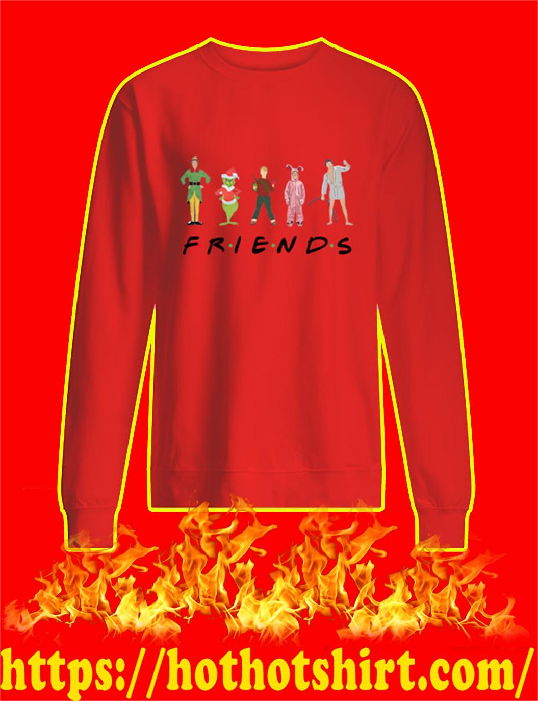 Christmas Movies Chracters Friends TV Show sweatshirt