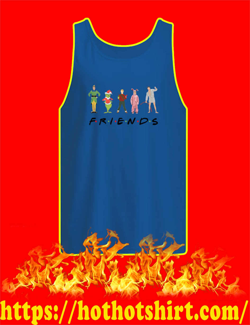 Christmas Movies Chracters Friends TV Show tank top