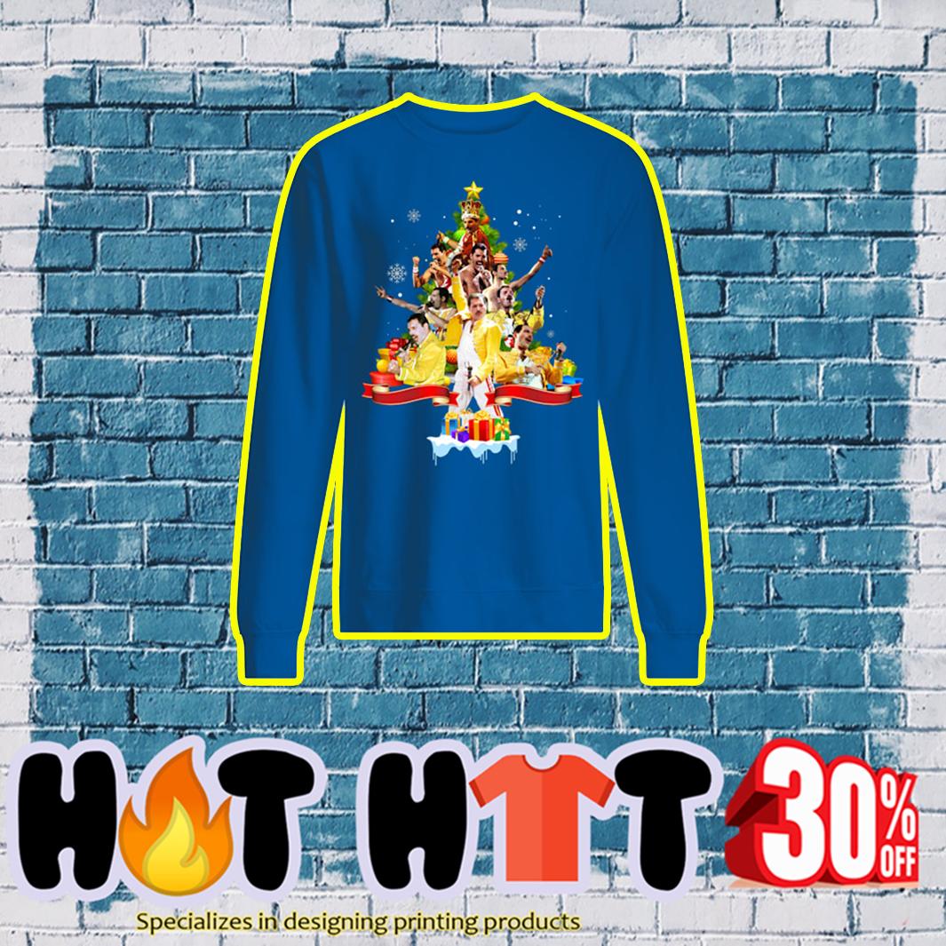 Christmas Tree Freddie Mercury sweatshirt