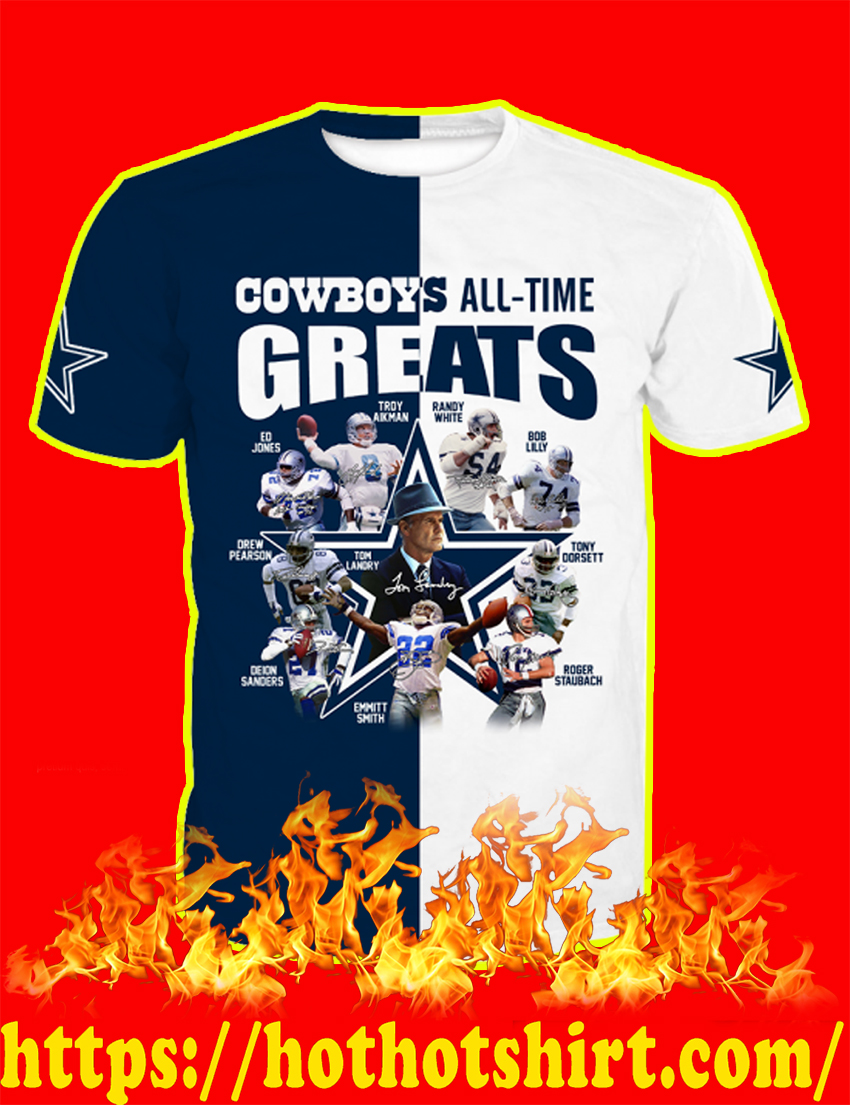 Dallas Cowboys All-Time Greats Full Over Print 3d T-shirt
