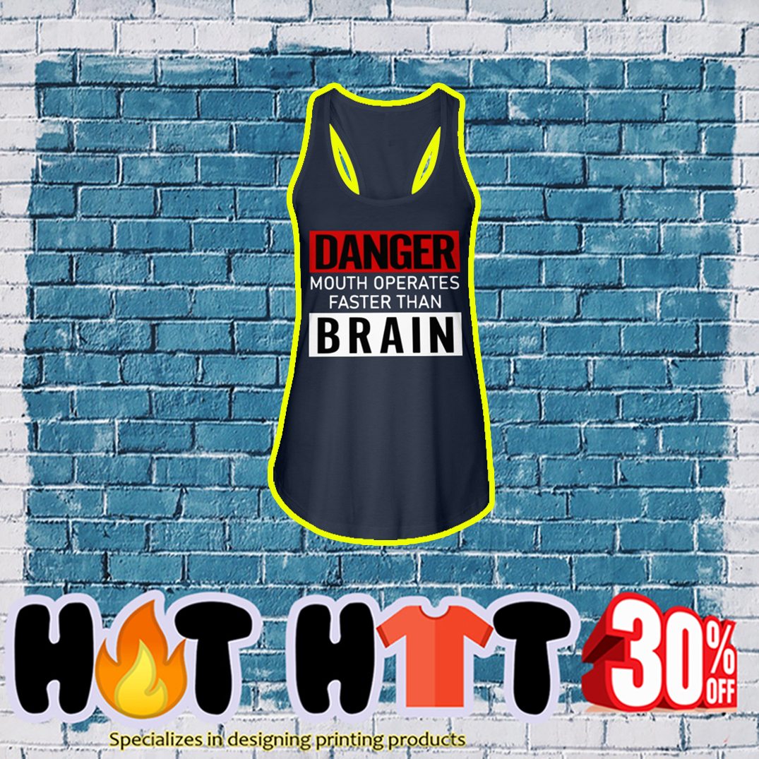 Danger Mouth Operates Faster Than Brain tank top