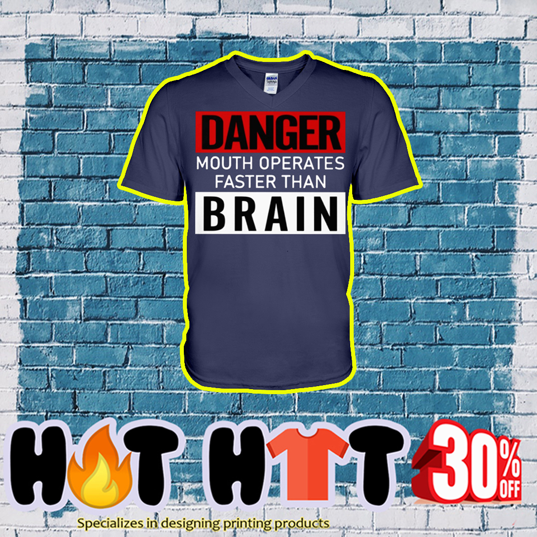 Danger Mouth Operates Faster Than Brain v-neck