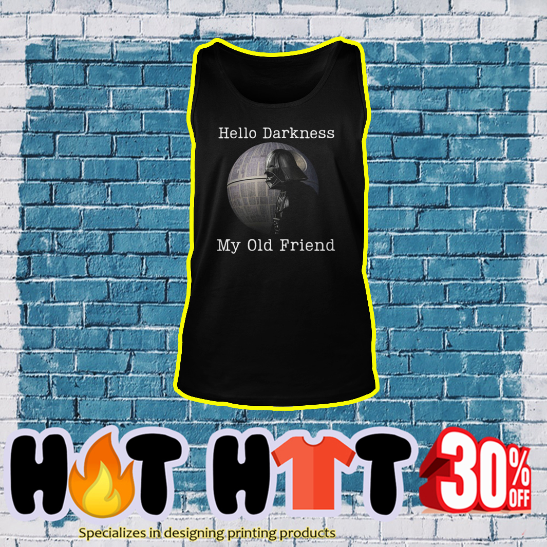 Darth Vader Hello Darkness My Old Friend tank top