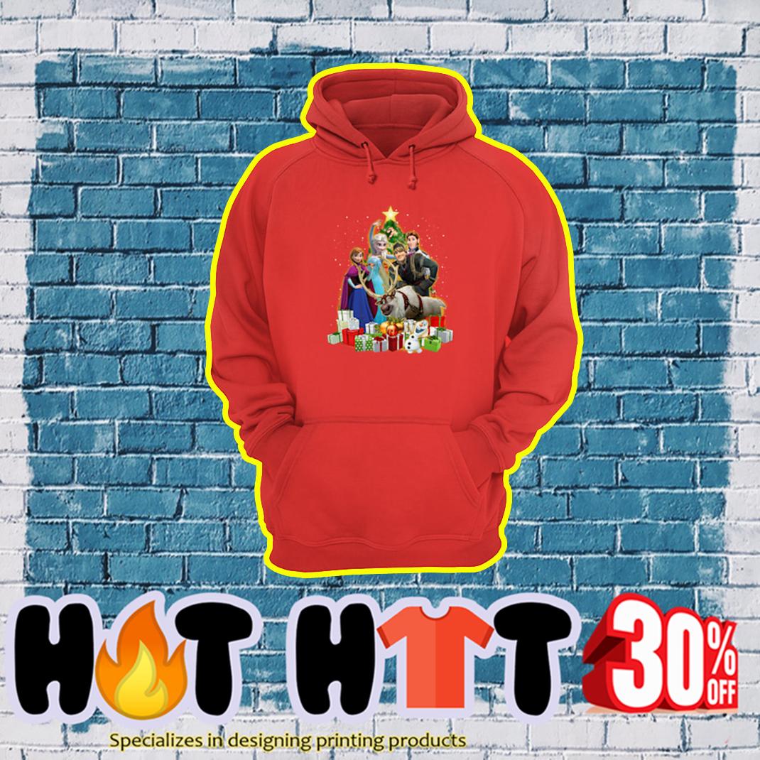 Disney Frozen Characters Christmas Tree hoodie