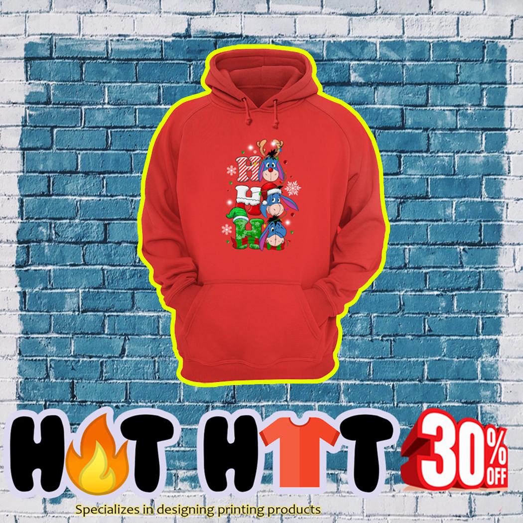 Eeyore Ho Ho Ho Christmas hoodie