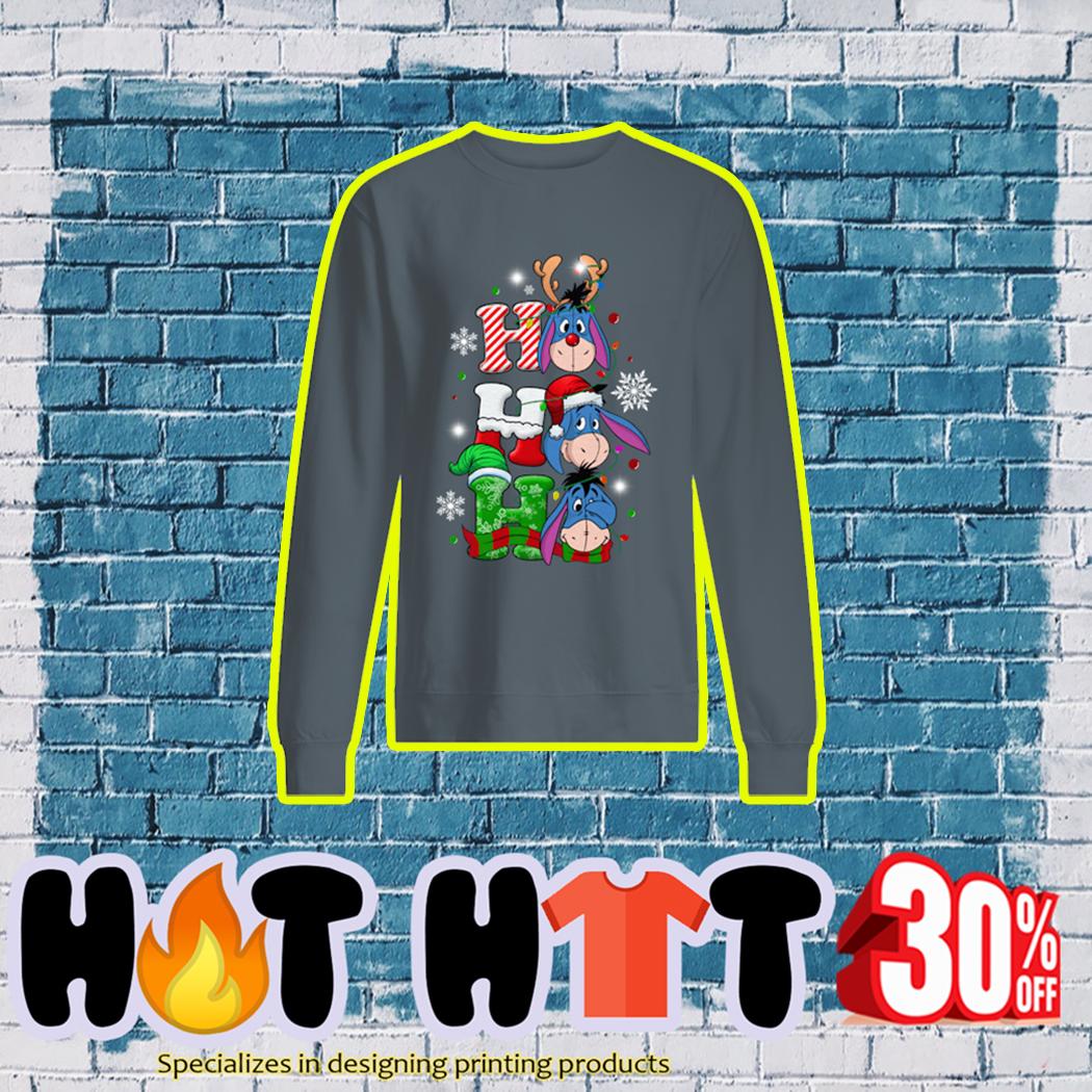 Eeyore Ho Ho Ho Christmas sweatshirt