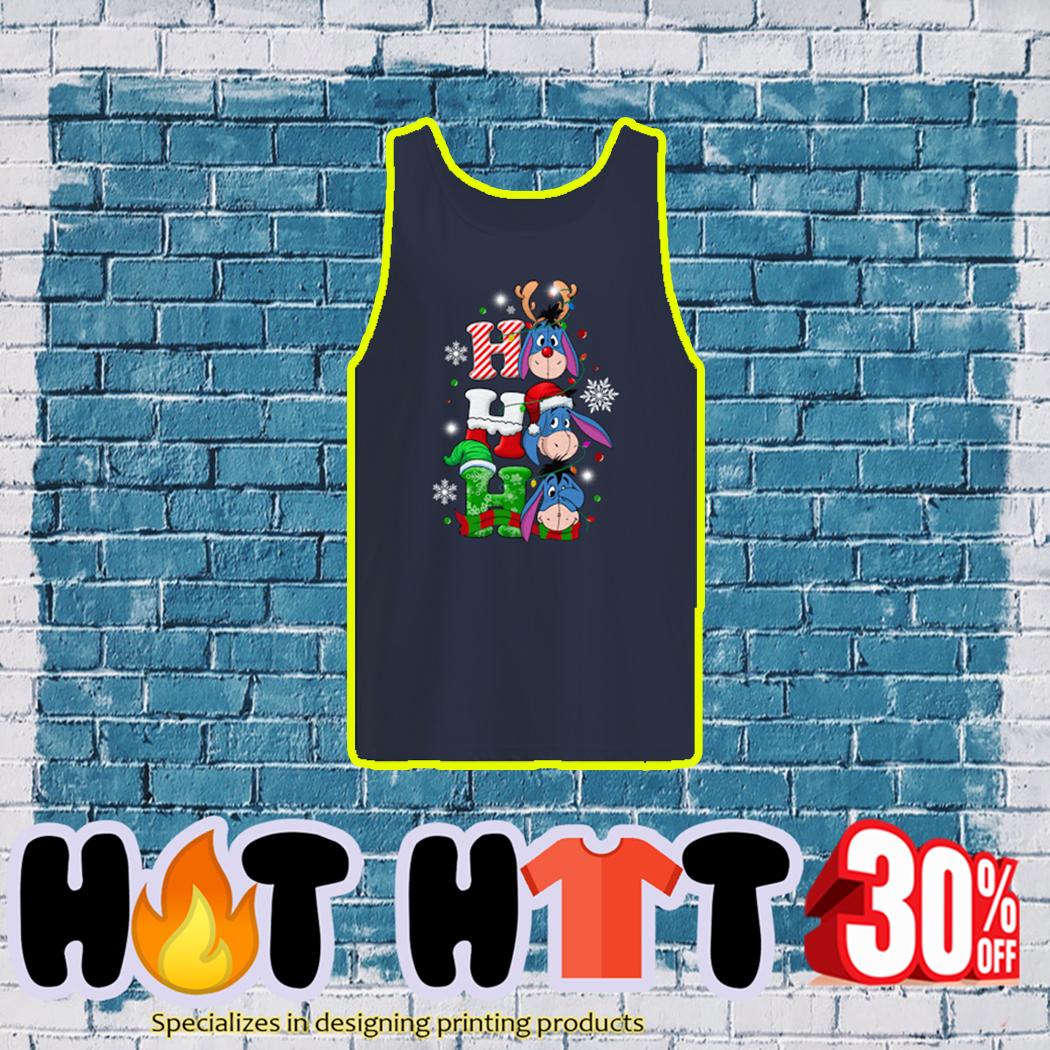 Eeyore Ho Ho Ho Christmas tank top