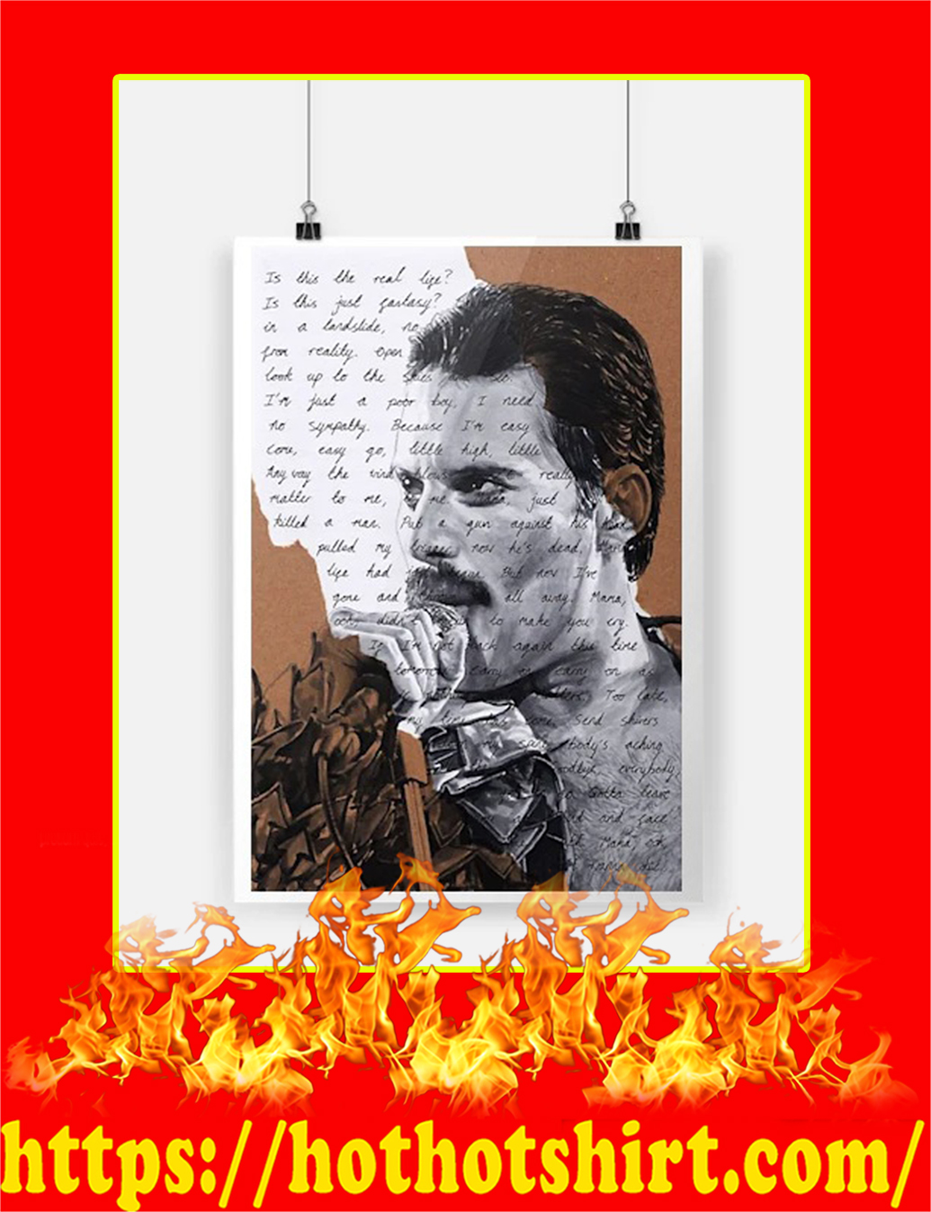 Freddie Mercury Is This The Real Life Poster - A4