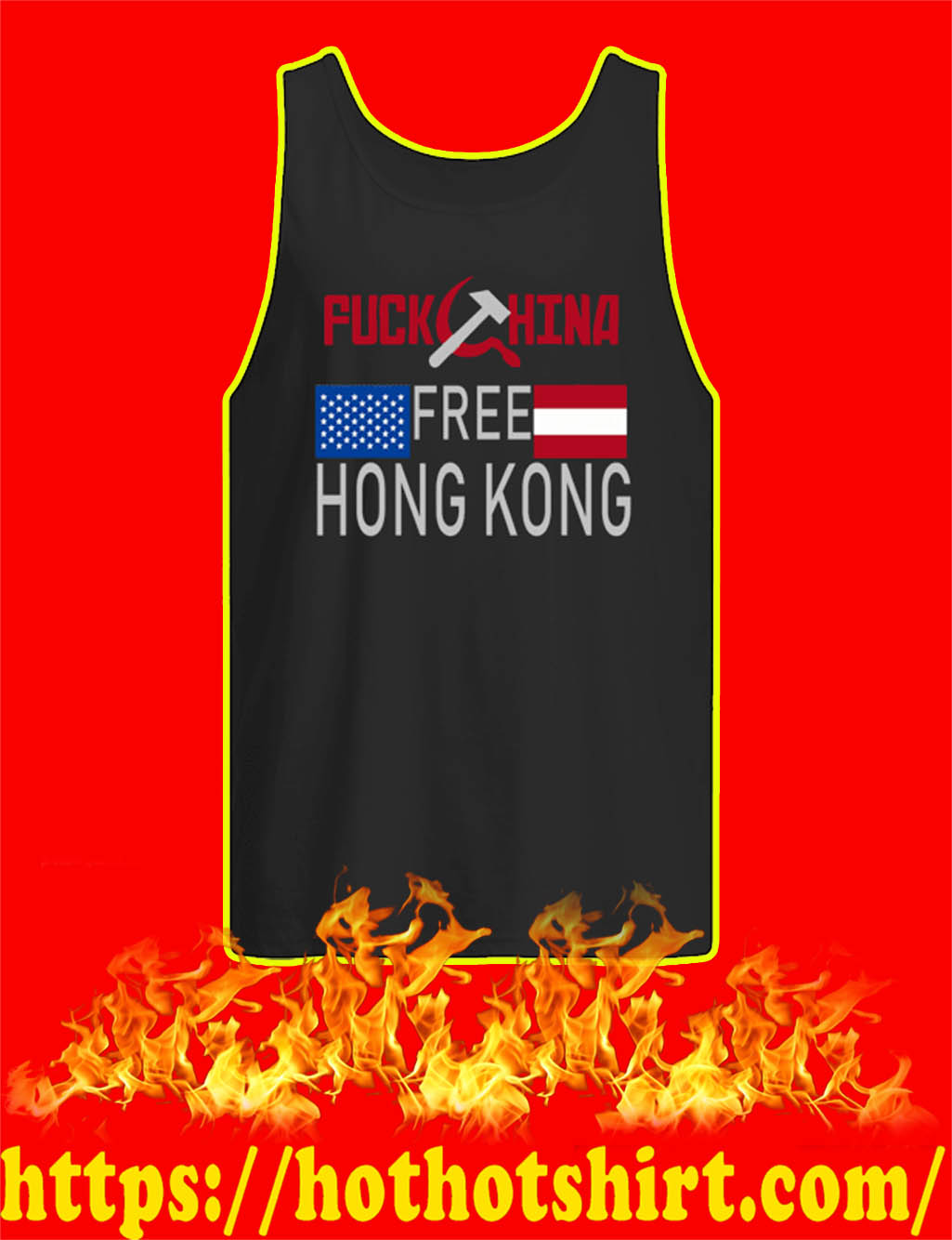 Fuck China Free Hong Kong tank top