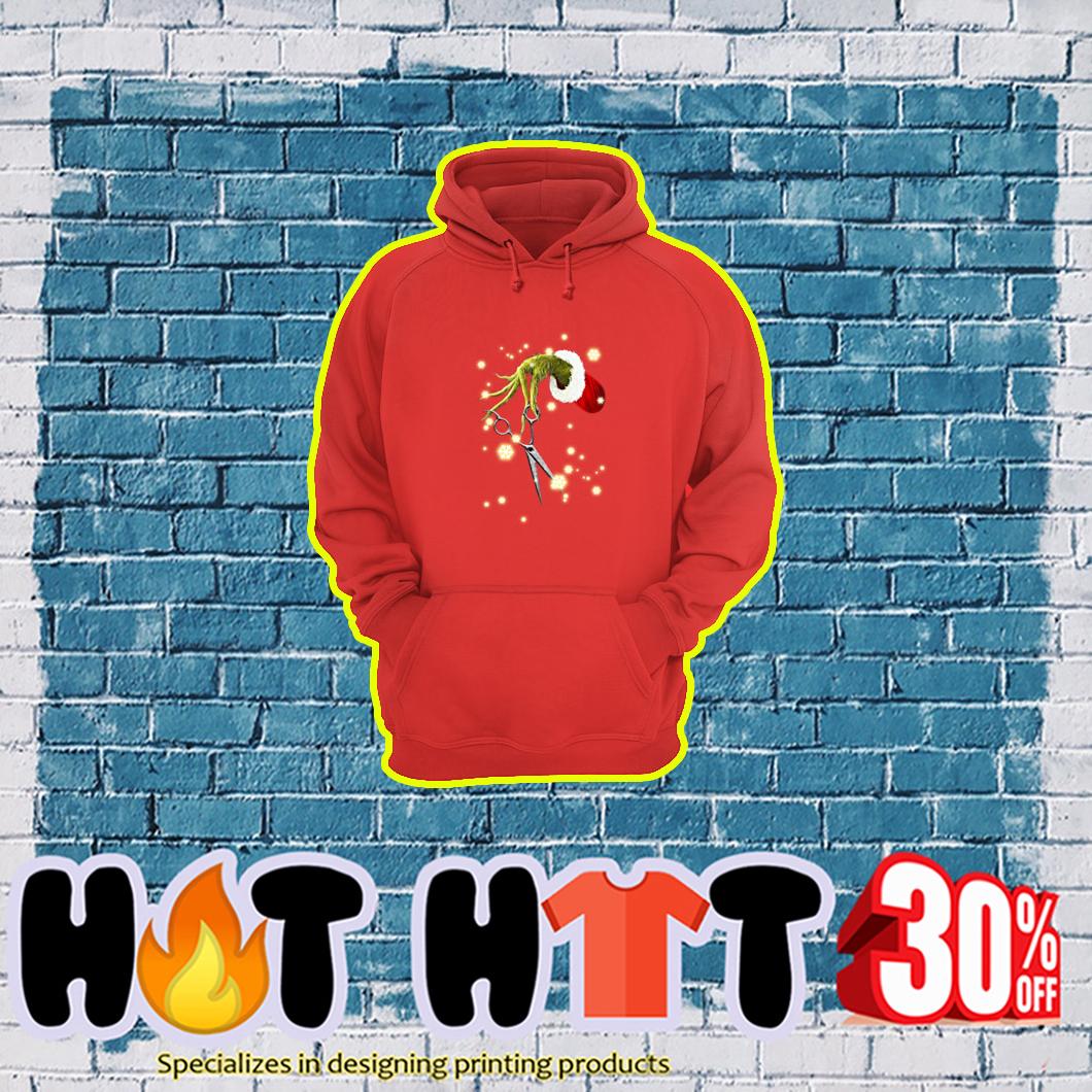 Grinch Hand Scissor Hair Stylist hoodie