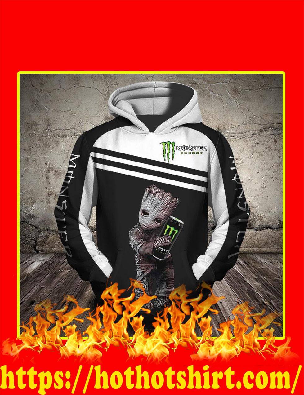 Groot Monster Energy 3D Hoodie - Front