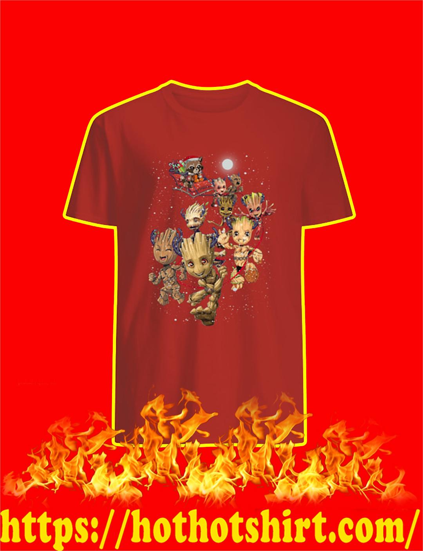 Groot Reindeer and Rocket Raccoon Santa Christmas shirt