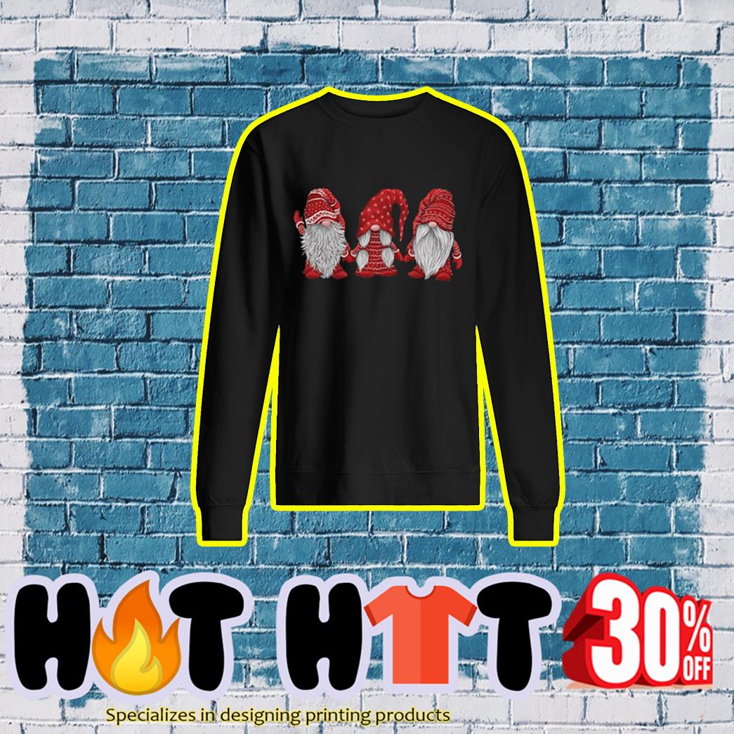 Hanging With Red Gnomies Sweatshirt- black