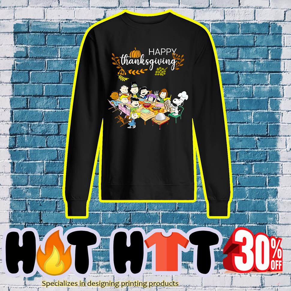 Happy Thanksgiving Peanuts sweatshirt