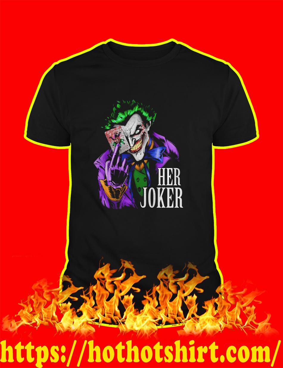 Her Joker shirt