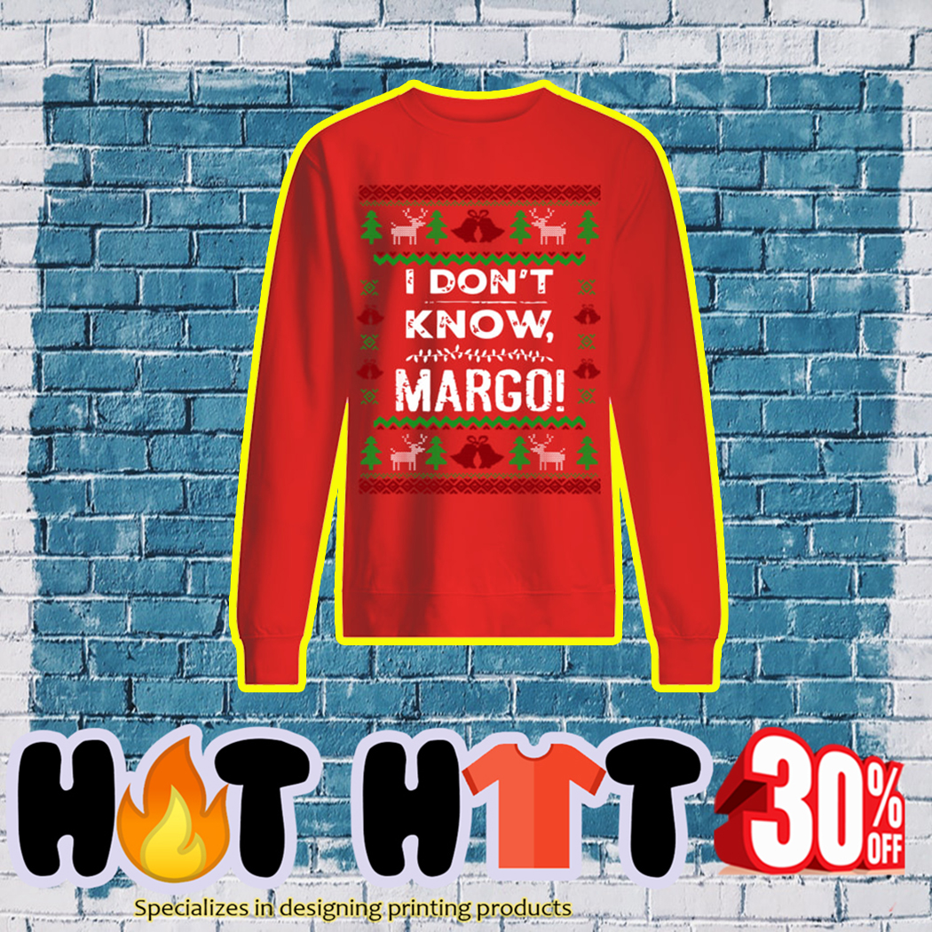 I Don't Know Margo Ugly Christmas Sweater- red