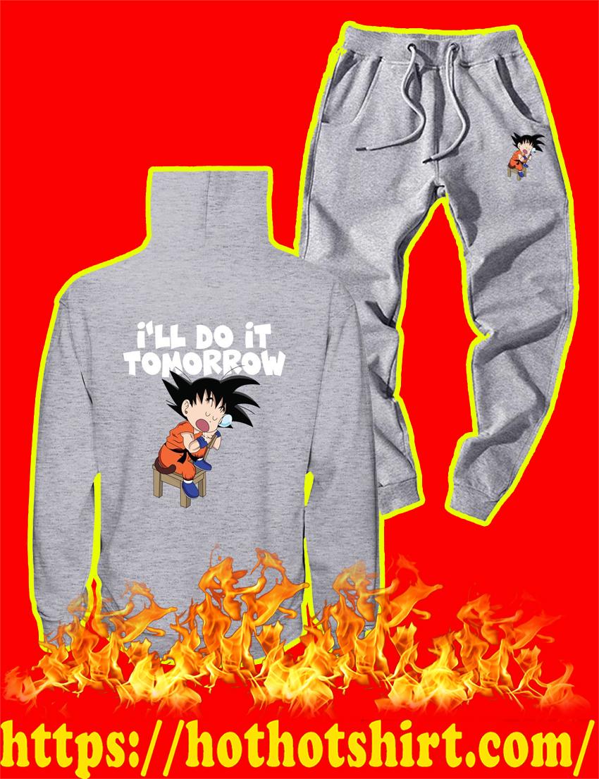 I'll Do It Tomorrow Goku Hoodie and Long Pant - grey style 2