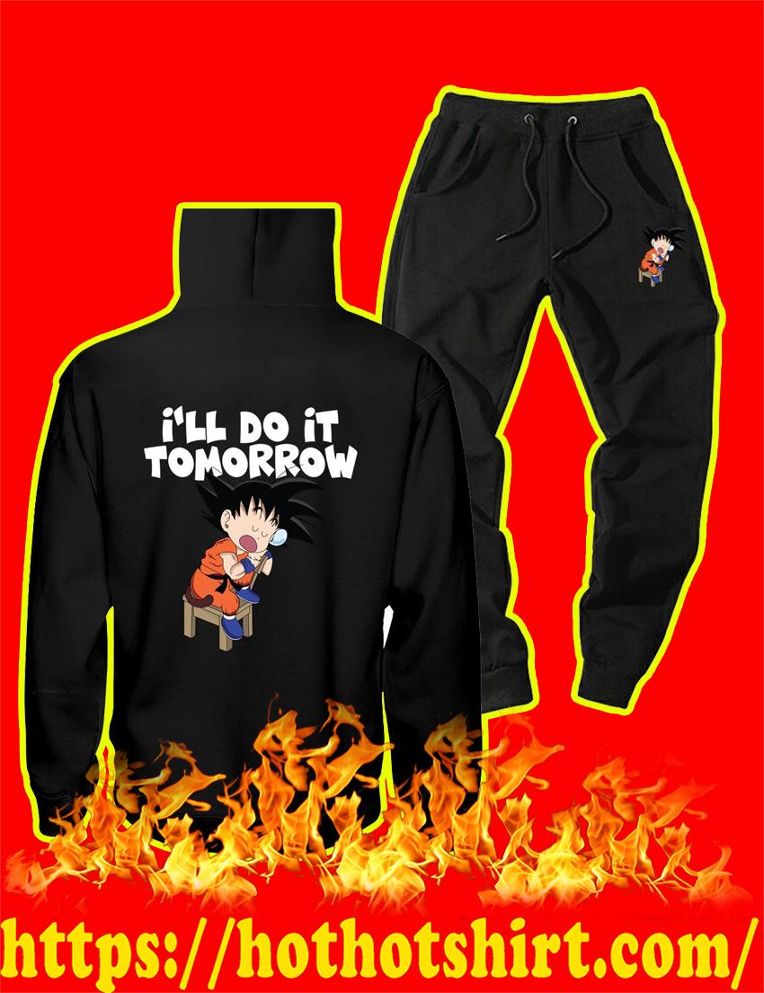 I'll Do It Tomorrow Goku Hoodie and Long Pant - style 2