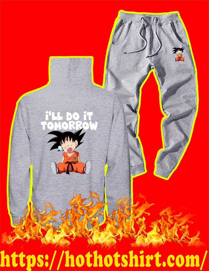 I'll Do It Tomorrow Goku Hoodie and Long Pant - Grey