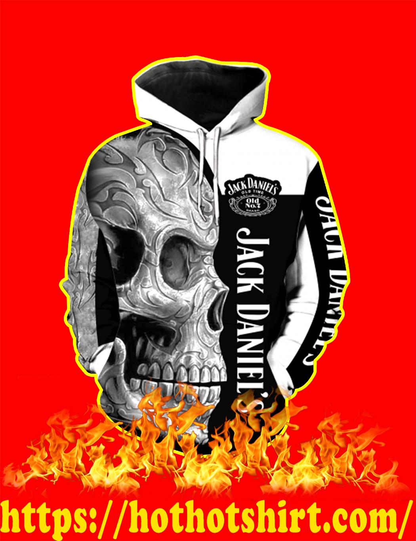 Jack Daniel's Skull Full Over Print 3d Hoodie