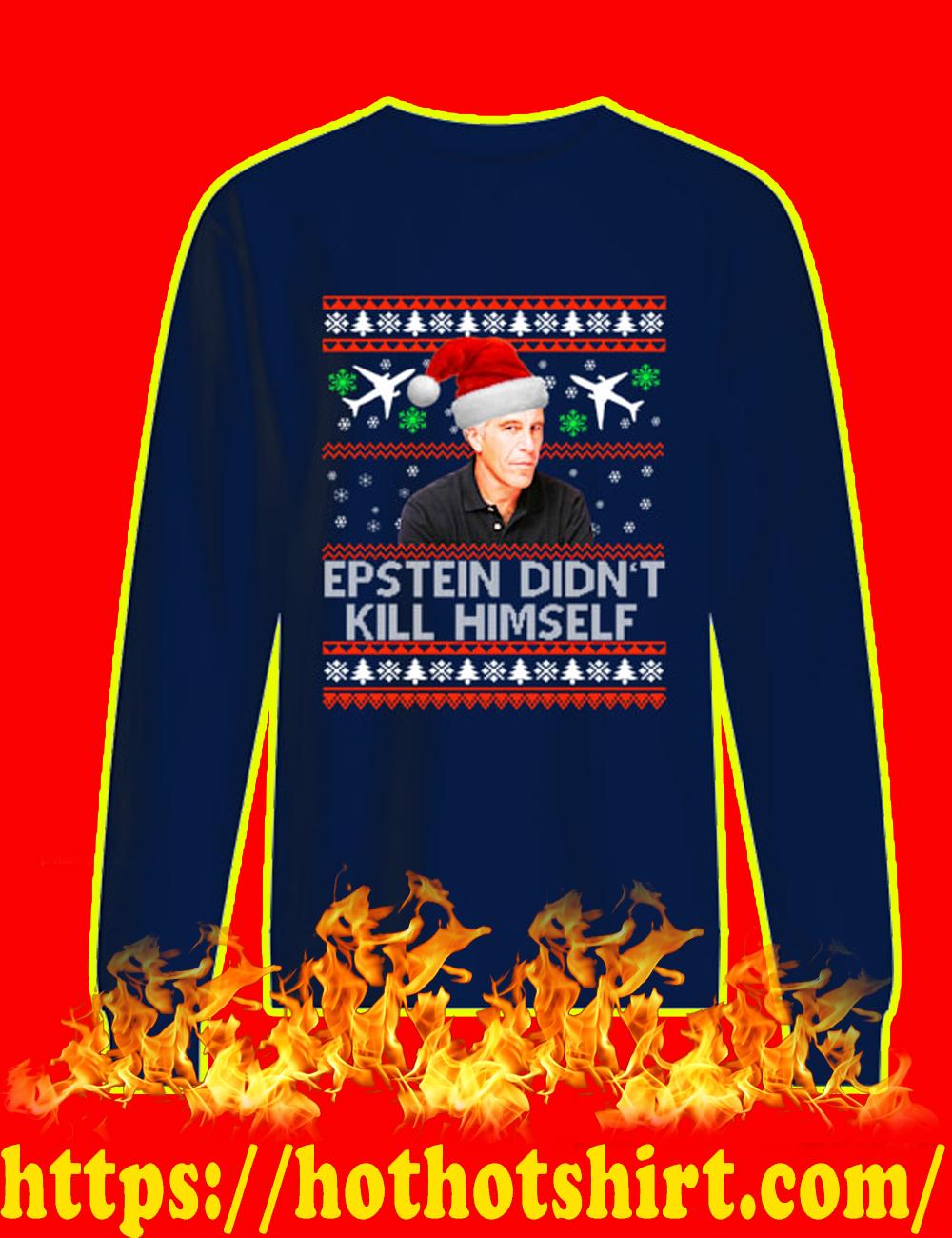Jeffrey Epstein Didn't Kill Himself Christmas Sweater-navy