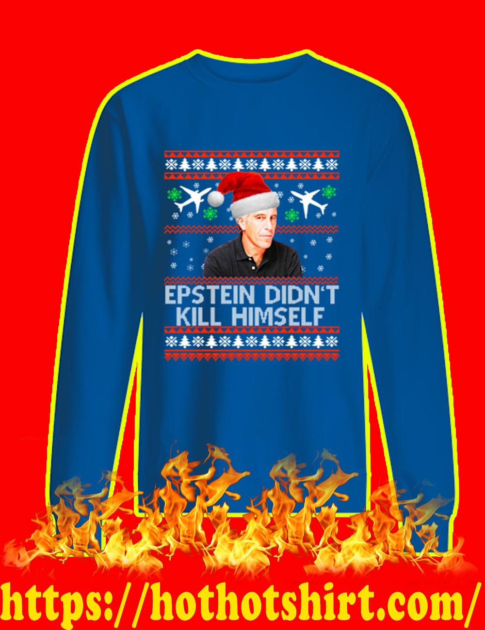 Jeffrey Epstein Didn't Kill Himself Christmas Sweater-royal blue
