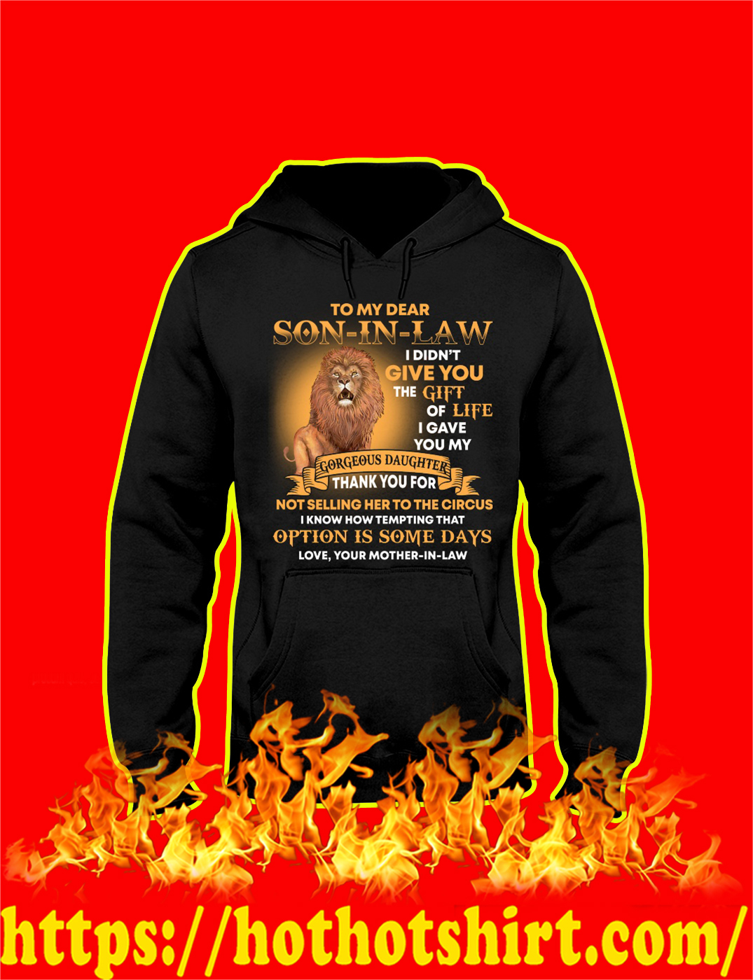 Lion To My Dear Son In Law hoodie