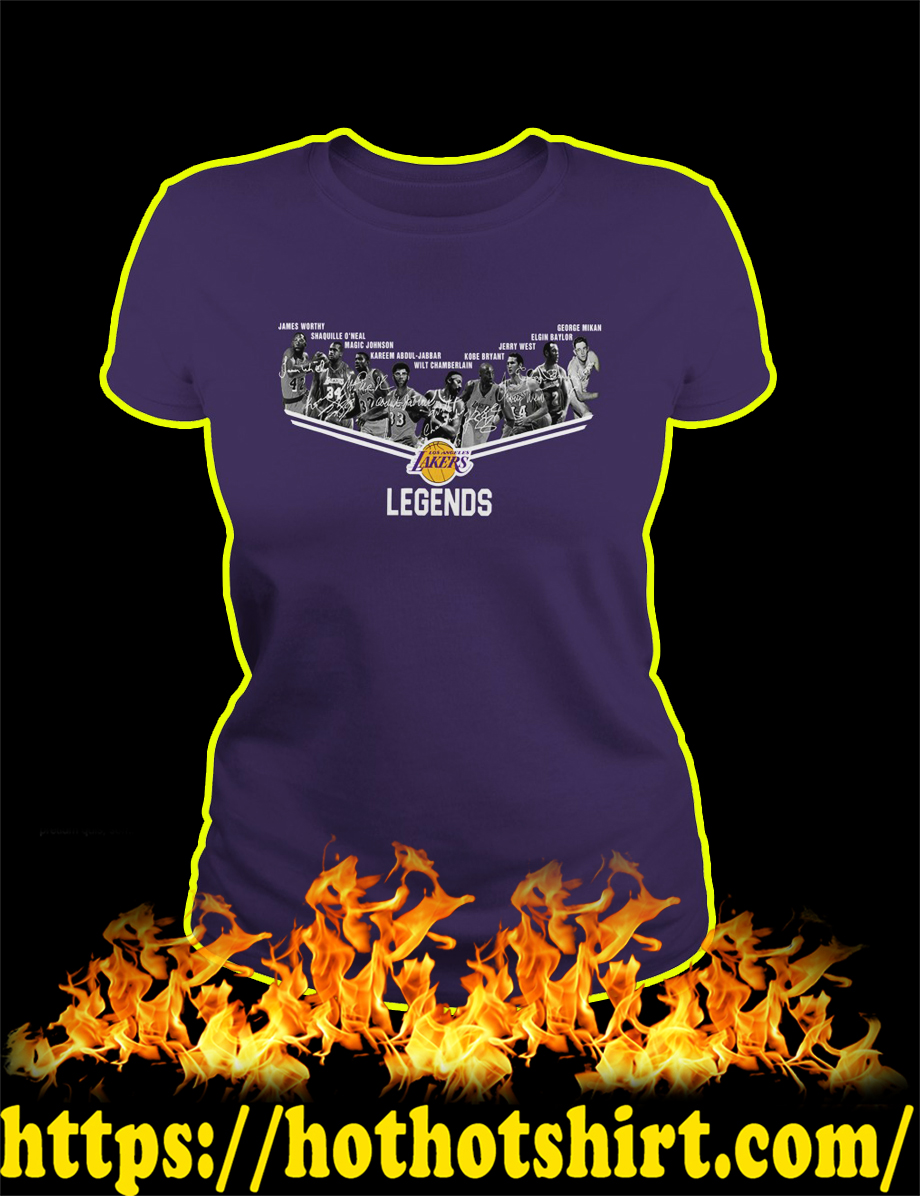 Los Angeles Lakers Legends Players lady shirt