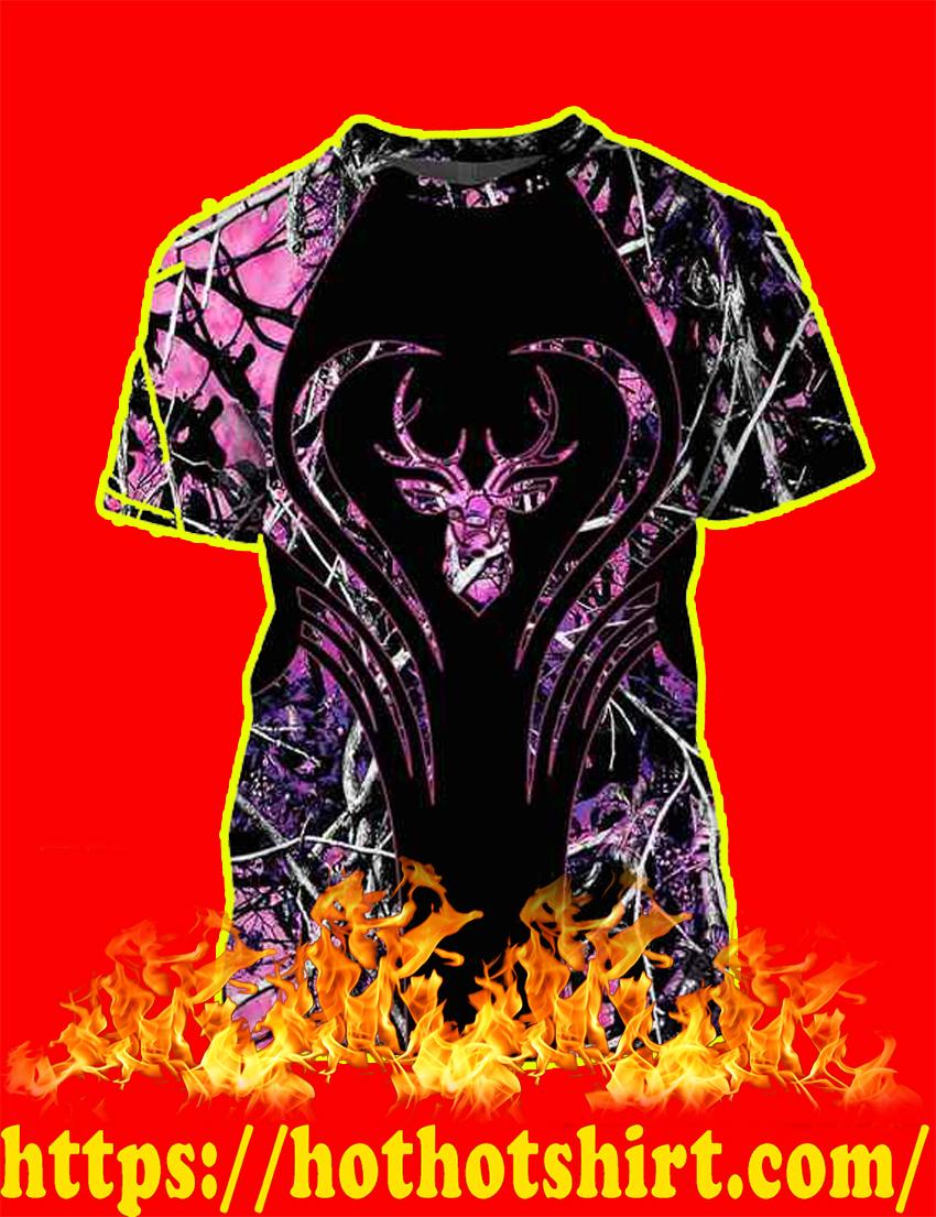 Love Deer Purple 3d T-shirt