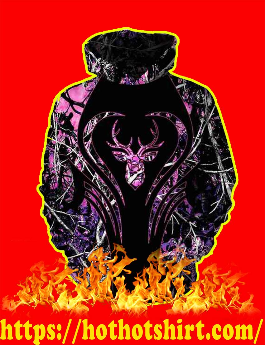Love Deer Purple 3d hoodie