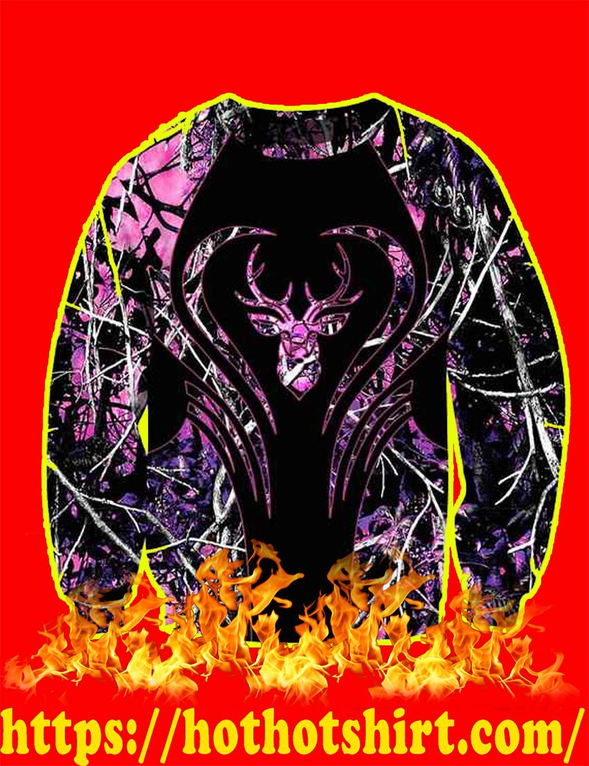 Love Deer Purple 3d sweatshirt