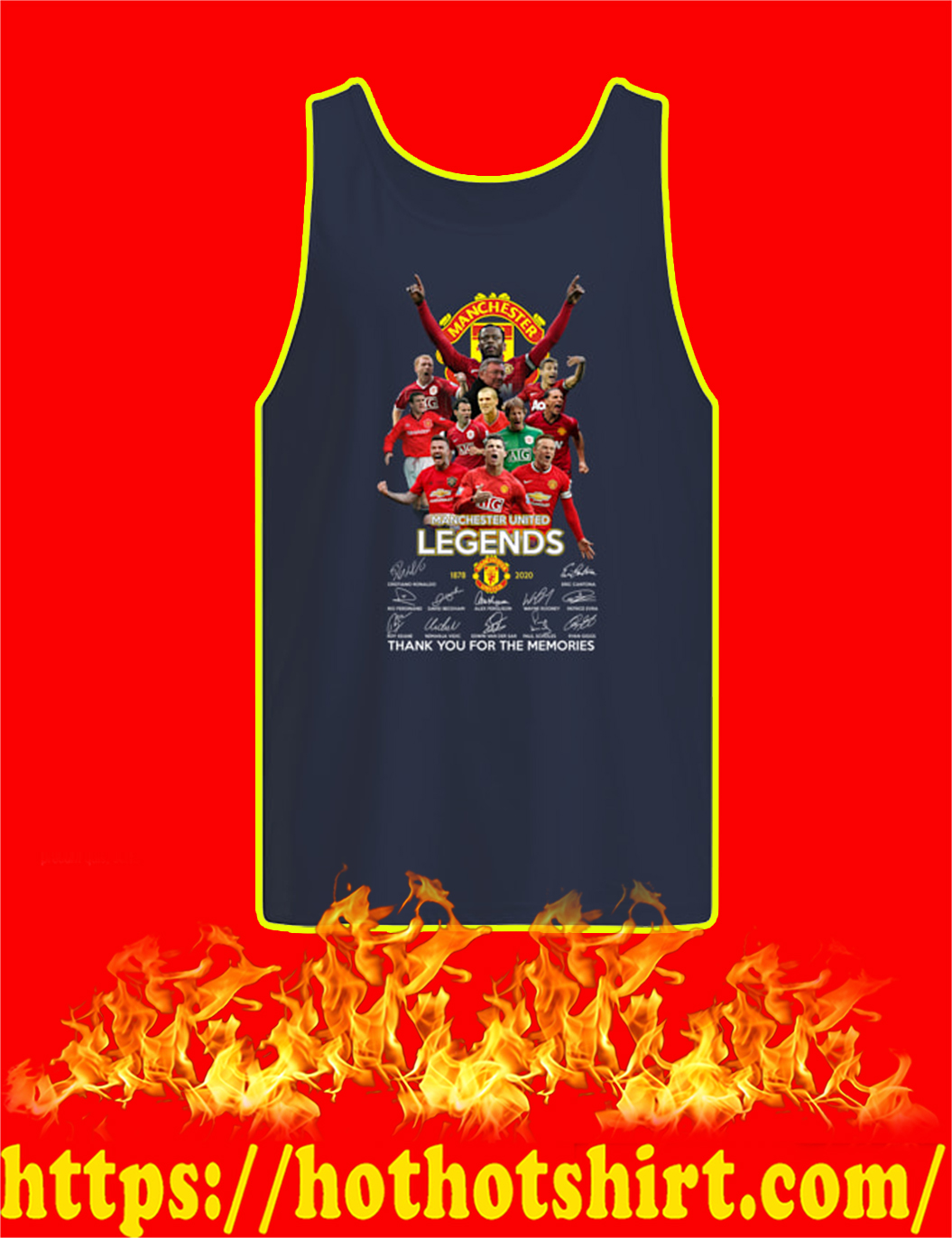 Manchester United Legends 1878 2020 Thank You For The Memories tank top