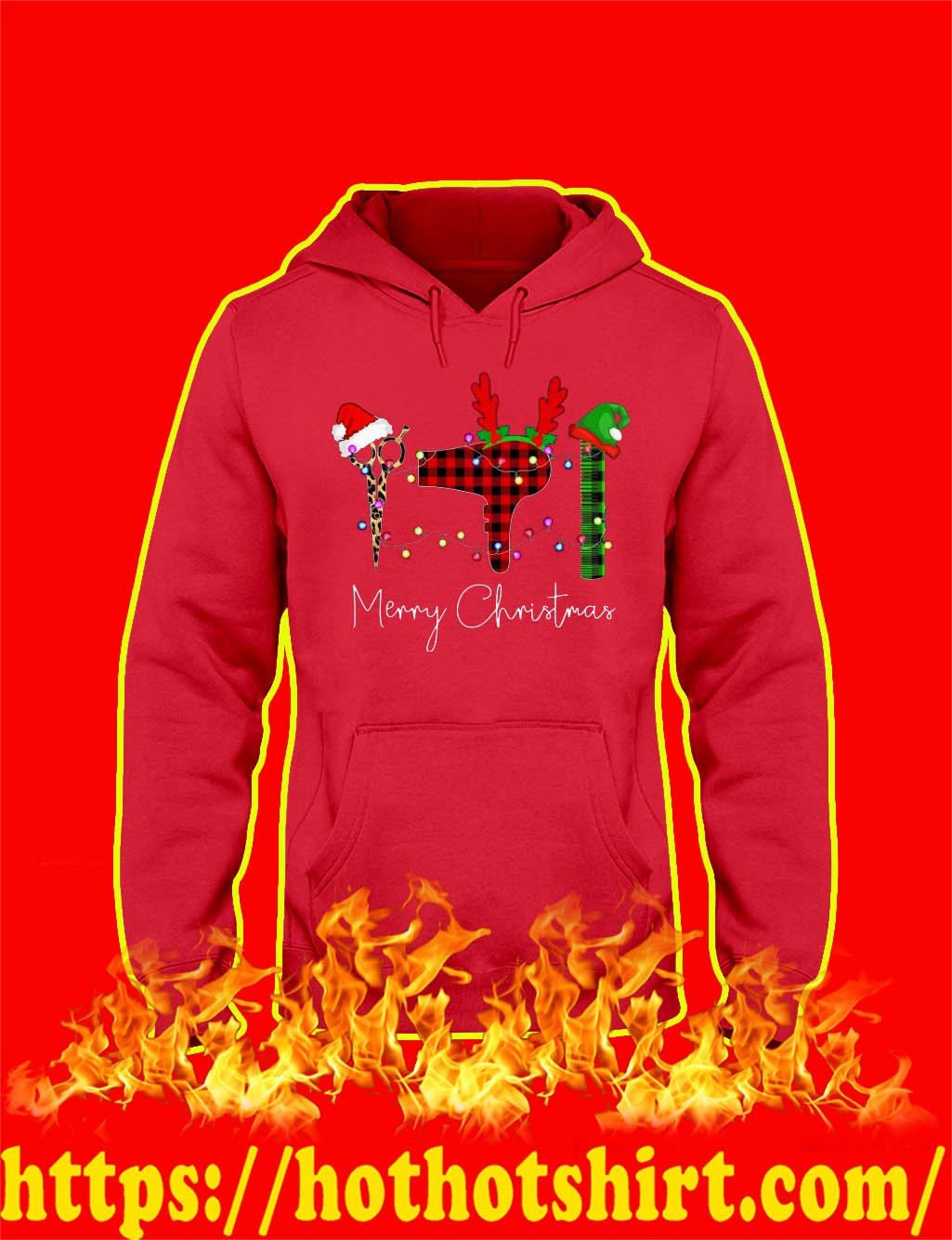 Merry Christmas Hair Stylist hoodie