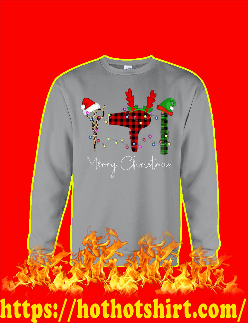 Merry Christmas Hair Stylist sweatshirt