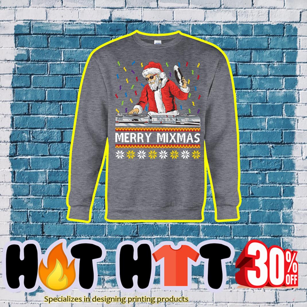 Merry Mixmas Ugly Christmas Sweater- grey