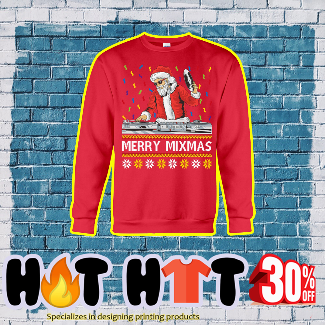 Merry Mixmas Ugly Christmas Sweater- red