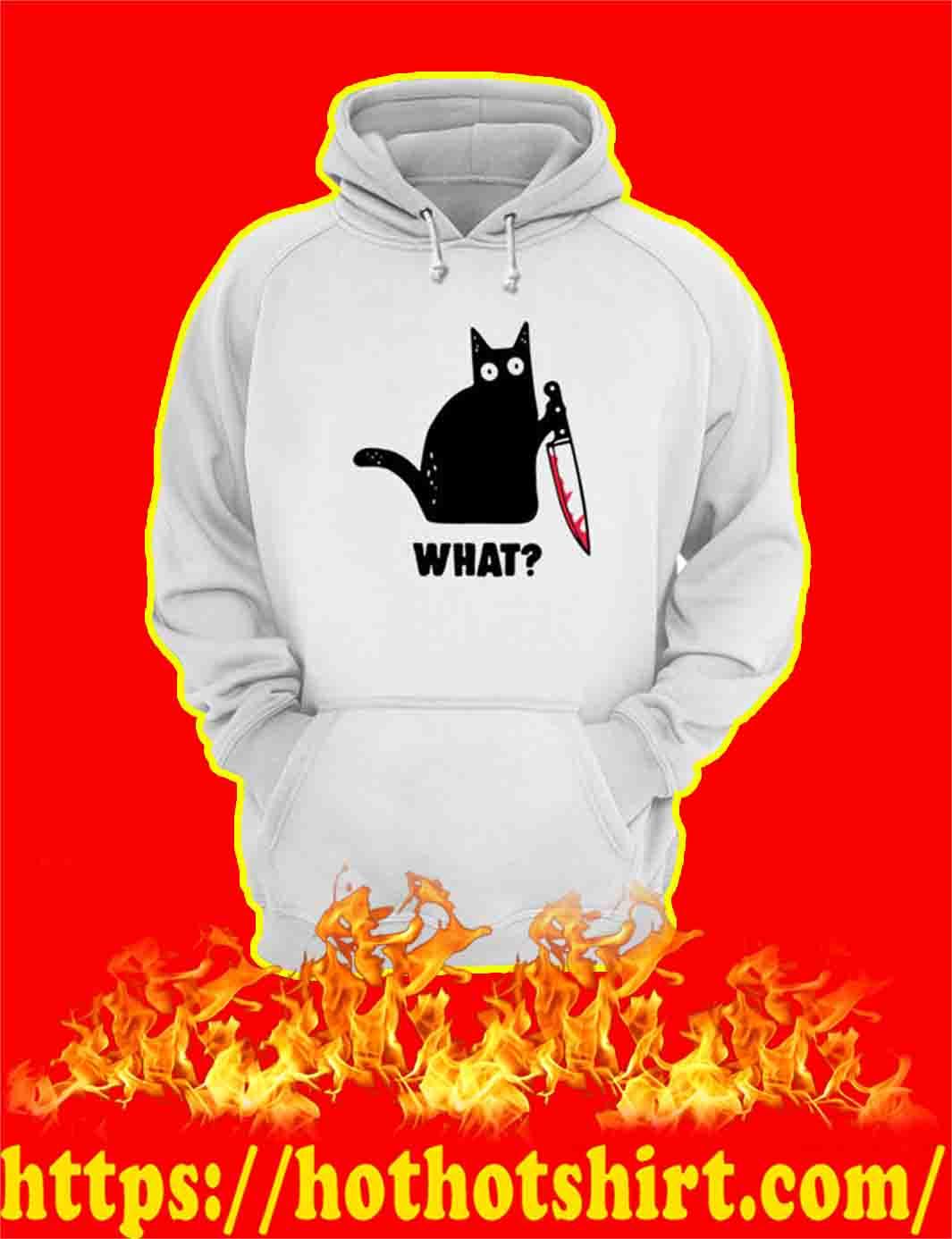 Murderous Black Cat Knife What hoodie