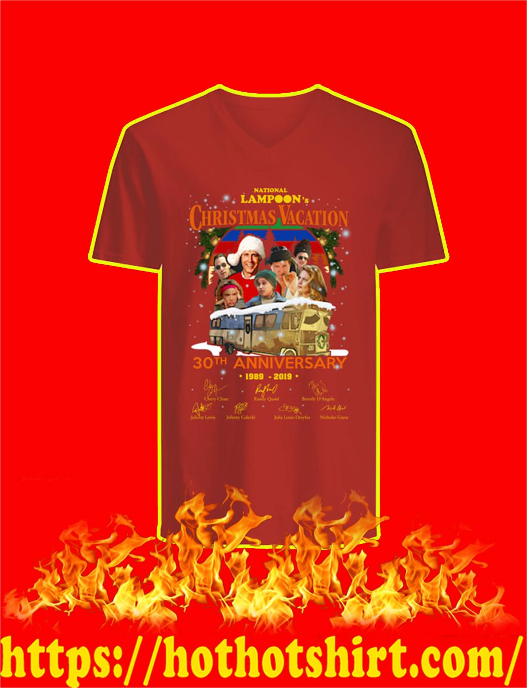 National Lampoon's Christmas Vacation 30th Anniversary 1989 2019 v-neck