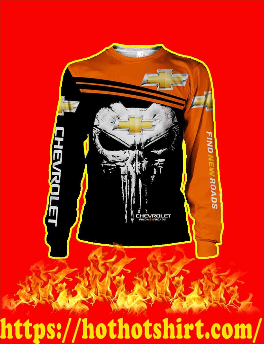 Punisher Skull Chevrolet 3d longsleeve tee