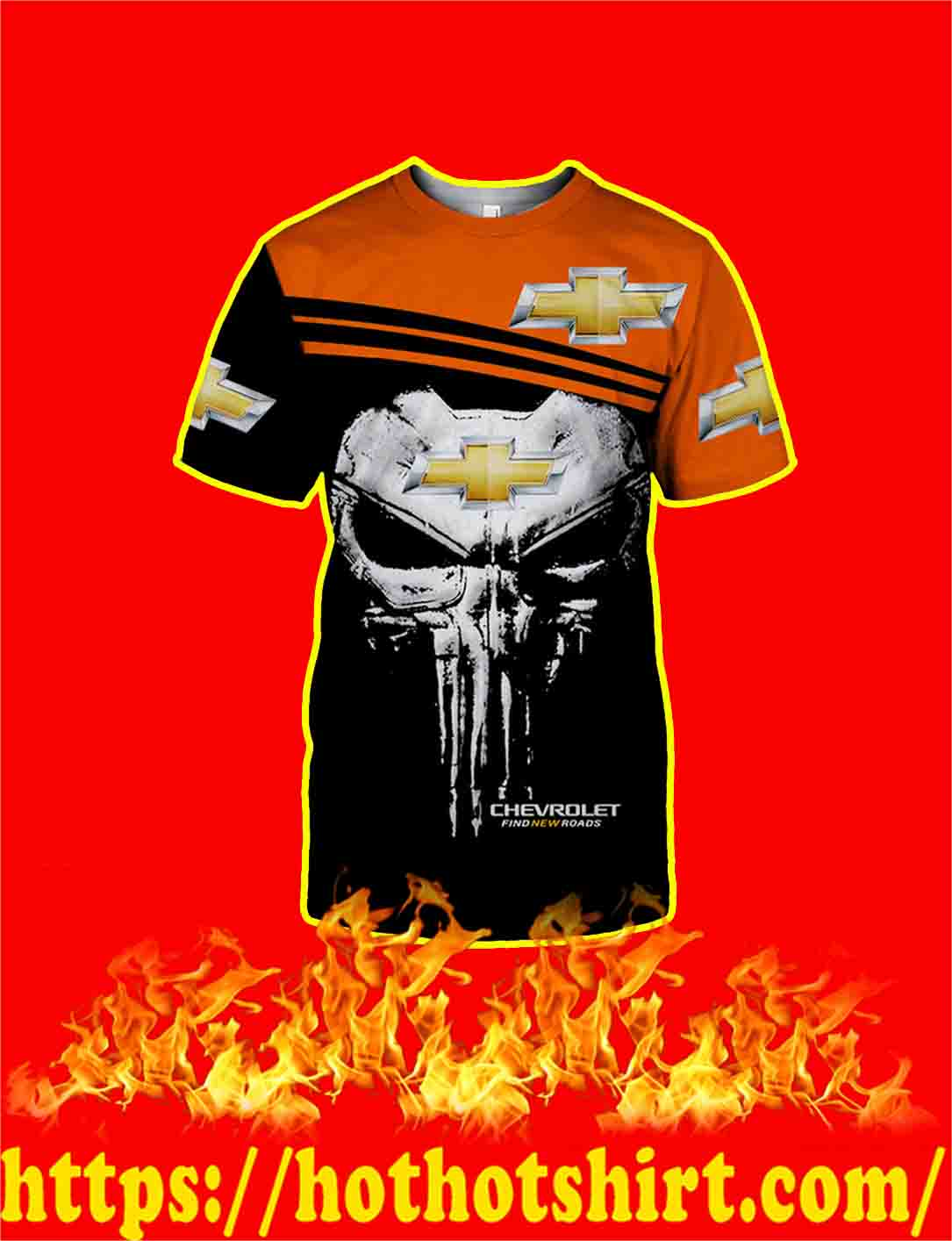 Punisher Skull Chevrolet 3d shirt