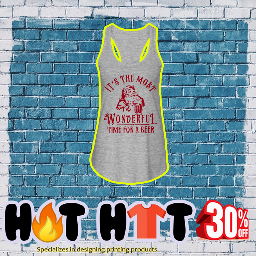 Santa It's The Most Wonderful Time For A Beer tank top