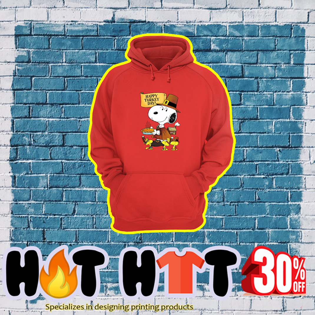 Snoopy and Woodstock Happy Turkey Day hoodie