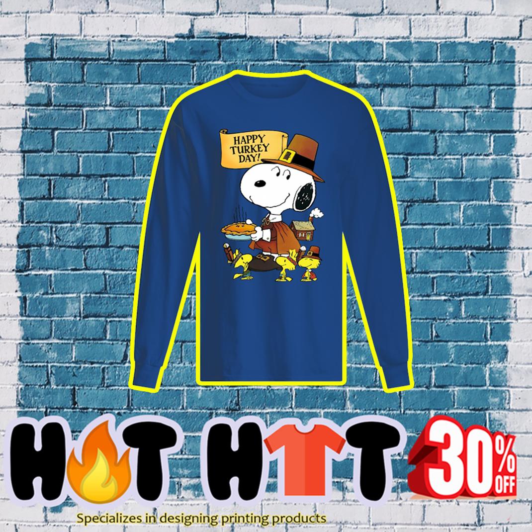 Snoopy and Woodstock Happy Turkey Day longsleeve tee