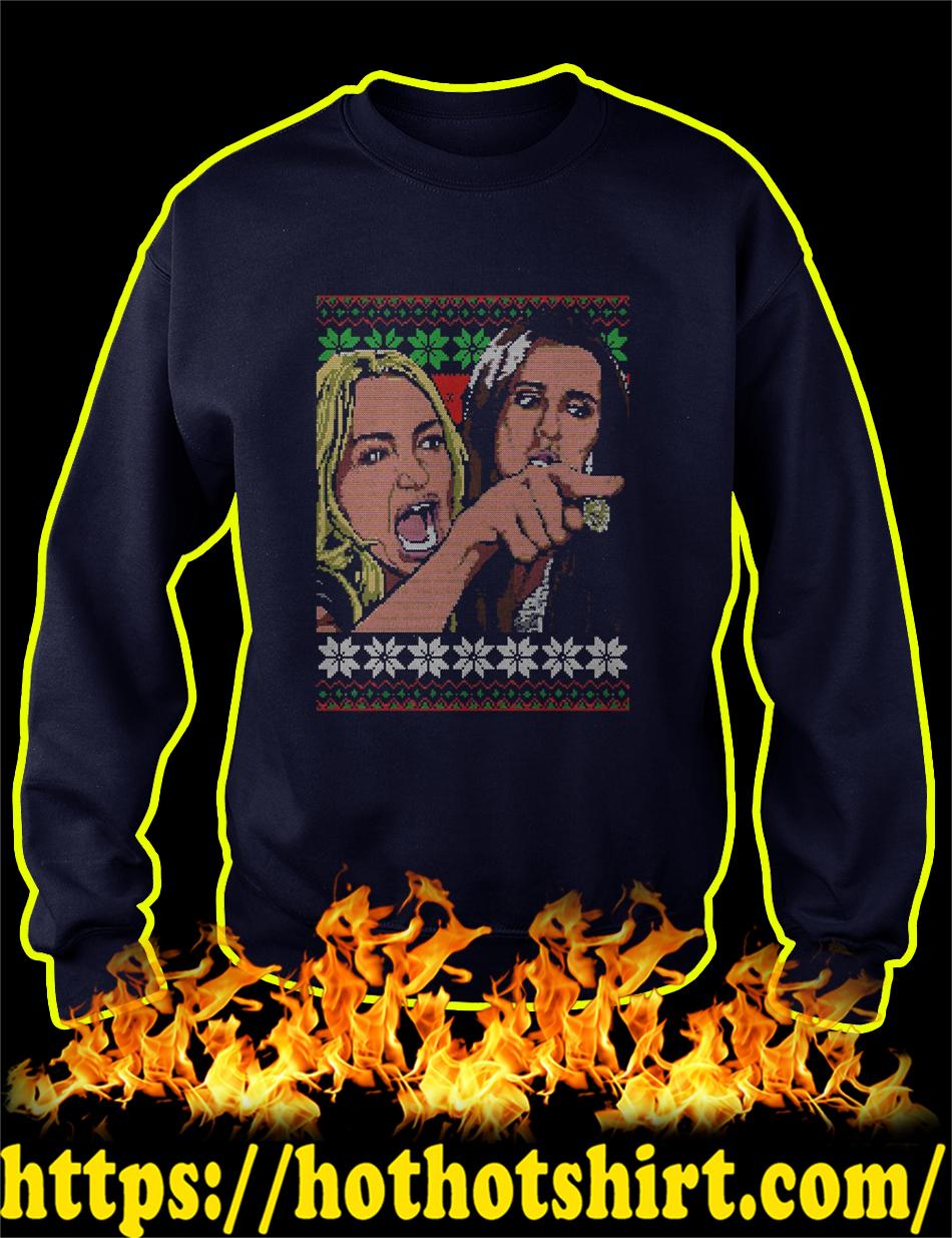Taylor Armstrong Woman Yelling Meme Ugly Christmas Sweater-navi