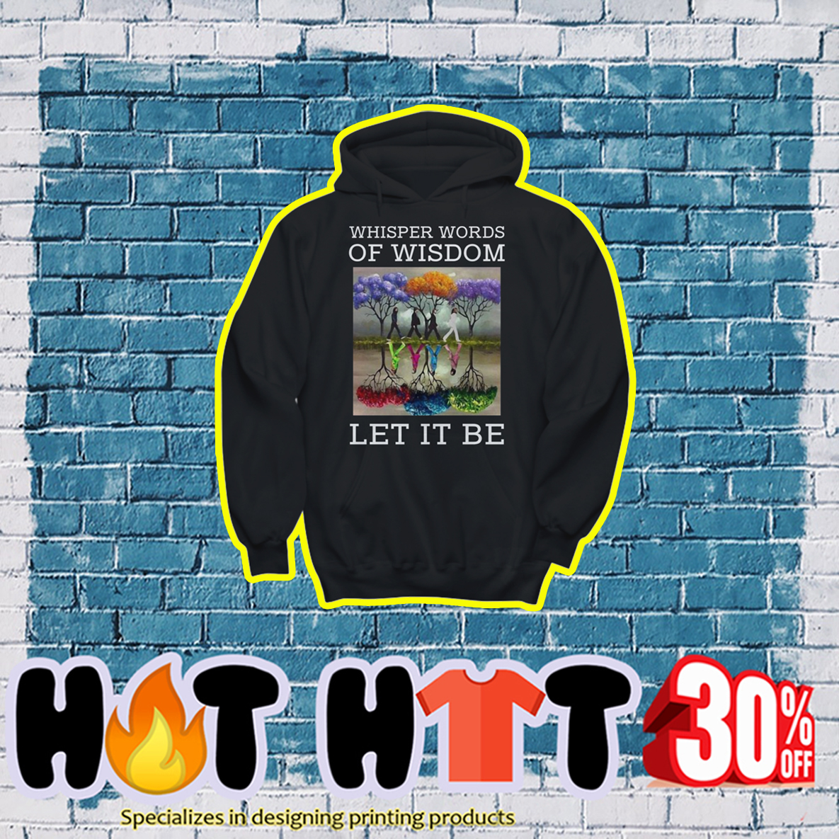 The Beatles Reflection Whisper Words Of Wisdom Let it Be hoodie