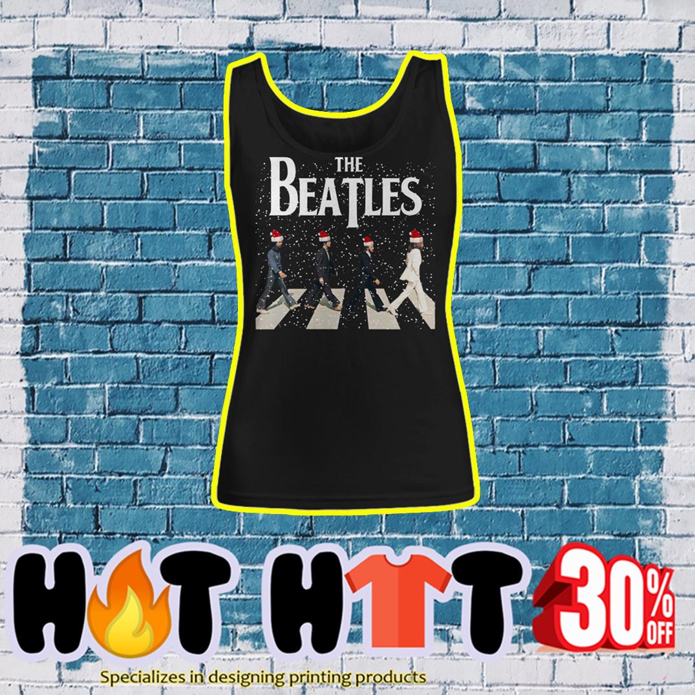 The Beatles Santa Hat Abbey Road Chrismtas tank top