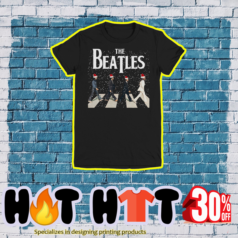 The Beatles Santa Hat Abbey Road Chrismtas- youth tee