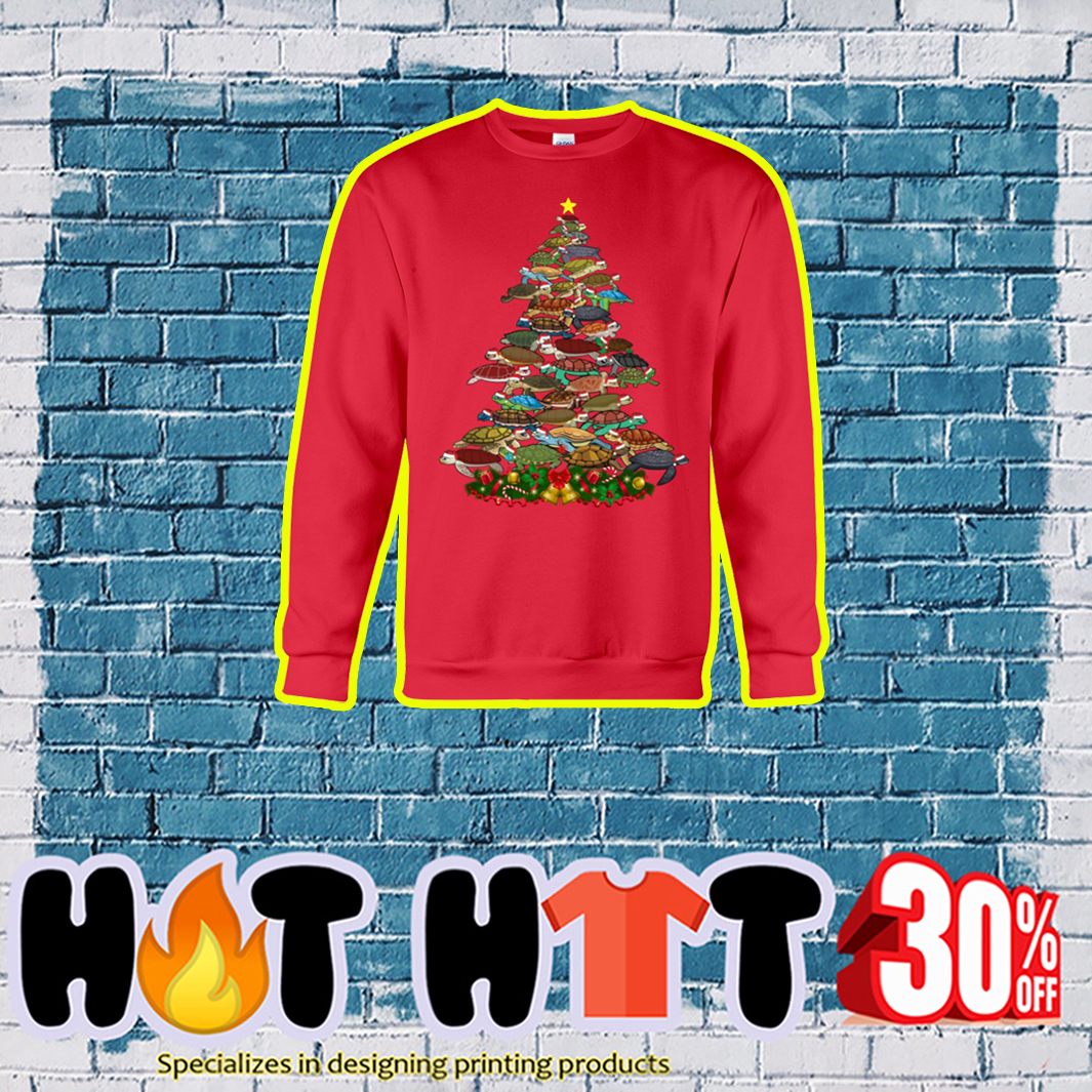 Turtle Christmas Tree sweatshirt